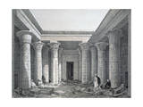 Court of the Great Temple  Philae  Egypt  1843