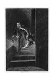 Lawrence Nightgall Dragging Cicely Down the Secret Stairs in the Salt Tower  1840