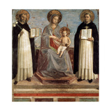 Virgin and Child with Saints Dominicus and Thomas Aquinas, 1424-1430 Giclée par Fra Angelico