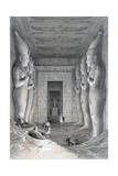 Interior of the Great Temple  Abu Simbel  19th Century