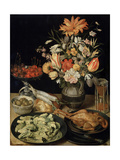 Still Life with Flowers and Snack  C1630-C1635
