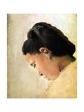 Tete De Jeune Fille  Late 19th Century