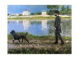 Richard Gallo and His Dog at Petit Gennevilliers  C1883-1884