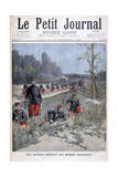 French Bicycle Corp on Military Maneuvers  1896