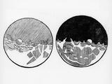 Sketch of the Moon by Galileo Galilei, C1635 Giclée par Galileo Galilei