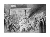 The Burning of Edward Underhill on Tower Green  1840
