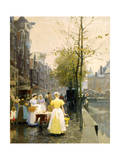 An October Morning in Amsterdam  C1895