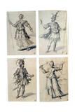 Costume Designs for Classical Deities  16th Century