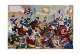 The Massacre of Peterloo  or Britons Strike Home  1819