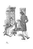 Scene from Jane Austen's Persuasion  1897