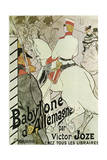 Poster to the Book Babylone D'Allemagne by Victor Joze  1894