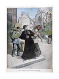 A Catholic Priest Is Stabbed by a Woman on the Street  France  1897
