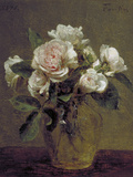 White Roses in a Glass Vase  1875