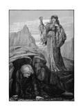 Morgan Le Fay Casts Spell on Merlin
