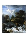 A Waterfall in a Rocky Landscape  1660-70
