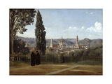Florence  View from the Boboli Gardens  1835-1840