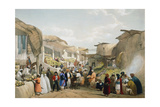Bazaar at Kabul During the Fruit Season  First Anglo-Afghan War  1838-1842