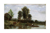 Landscape with a River  19th Century