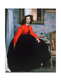 Portrait of Mlle L L  (Young Lady in a Red Jacke)  1864