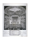 Interior View of the Haymarket Theatre  London  on its Opening Night in 1821