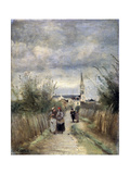 Bell Tower in Argenteuil (Road to the Churc)  1870S