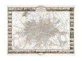 Map of London, 1851 Giclée par J Rapkin