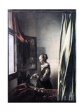Girl Reading a Letter at an Open Window  C1657