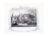 View of Billingsgate Wharf with Three Tuns Public House  Figures and Boats  London  1834