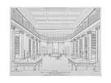 Interior View of the Library in the London Institution  Finsbury Circus  City of London  1824