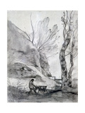 Man Struggling with a Goat  C1816-1875