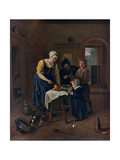 A Peasant Family at Meal-Time ('Grace before Meat)  C1665