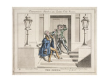 View of Two Drunken Revellers on the Steps of Crockford's Club  London  1829