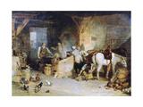 A Country Blacksmith Disputing Upon the Price of Iron  C1807