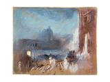 The Santa Maria Della Salute  Venice  at Night  1840