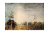 Whalers (Boiling Blubbe) Entangled in Flaw Ice, Endeavouring to Extricate Themselves, 1846 Giclée par J. M. W. Turner