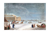 Square and the Grand Theatre at St Petersburg  1817