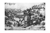 A Sketch of a Countryside View  15th Century