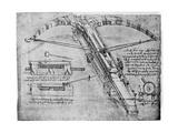 Giant Crossbow, 1480-1485 Giclée par Leonardo Da Vinci