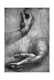 Study of Hands, 15th Century Giclée par Leonardo Da Vinci