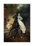 Horsewoman  Portrait of Giovanina and Amazillia Pacini  1832