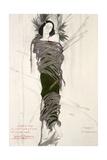 Costume Design for the The Ballet Dancer Ida Rubinstein  1911