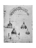 Studies for the Central Cupola of Milan Cathedral  Late 15th Century