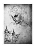 Study for the Head of St James and an Architectural Drawing  15th Century