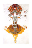 The Firebird  Costume Design for Tamara Karsavina in Stravinsky's Ballet the Firebird  1910
