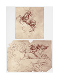Horse Rearing  and Horsemen and Foot-Soldiers  C1504