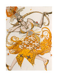 The Firebird, Costume for the Firebird, the Ballet by Lgor Stravinsky, 1910 Giclée par Leon Bakst