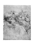 Study of Five Grotesque Heads  C1494