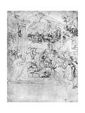 Study for the Adoration of the Magi  15th Century