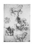 Studies for the Trivulzio Monument, C1508 Giclée par Leonardo Da Vinci