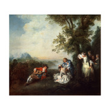 Company at the Edge of a Forest  Late 1720S